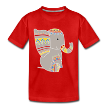 "Laden Sie das Bild in den Galerie-Viewer, Kinder Premium T-Shirt ""Elefant"" - Rot"