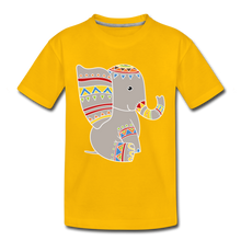 "Laden Sie das Bild in den Galerie-Viewer, Kinder Premium T-Shirt ""Elefant"" - Sonnengelb"