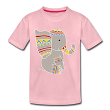 "Laden Sie das Bild in den Galerie-Viewer, Kinder Premium T-Shirt ""Elefant"" - Hellrosa"