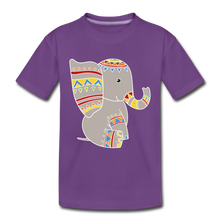 "Laden Sie das Bild in den Galerie-Viewer, Kinder Premium T-Shirt ""Elefant"" - Lila"