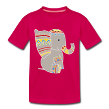"Laden Sie das Bild in den Galerie-Viewer, Kinder Premium T-Shirt ""Elefant"" - dunkles Pink"