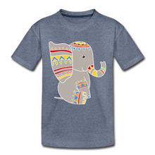 "Laden Sie das Bild in den Galerie-Viewer, Kinder Premium T-Shirt ""Elefant"" - Blau meliert"