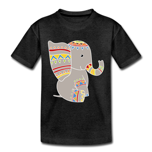 "Kinder Premium T-Shirt ""Elefant"" - Anthrazit"