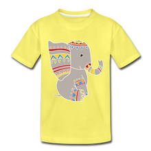 "Laden Sie das Bild in den Galerie-Viewer, Kinder Premium T-Shirt ""Elefant"" - Gelb"