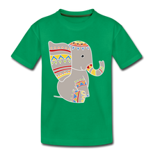 "Laden Sie das Bild in den Galerie-Viewer, Kinder Premium T-Shirt ""Elefant"" - Kelly Green"