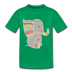 "Kinder Premium T-Shirt ""Elefant"" - Kelly Green"