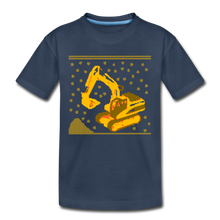 "Laden Sie das Bild in den Galerie-Viewer, Kinder Premium T-Shirt ""Bagger"" - Navy"