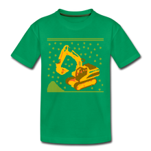"Laden Sie das Bild in den Galerie-Viewer, Kinder Premium T-Shirt ""Bagger"" - Kelly Green"