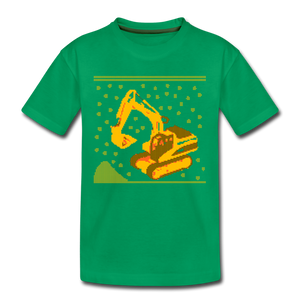 "Kinder Premium T-Shirt ""Bagger"" - Kelly Green"