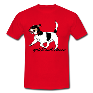 "T-Shirt ""Jack Russel"" - Rot"