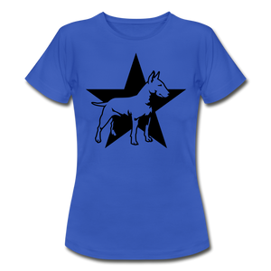 "T-Shirt ""Bull Terrier"" - Royalblau"