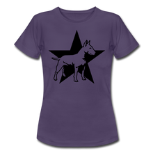"Laden Sie das Bild in den Galerie-Viewer, T-Shirt ""Bull Terrier"" - Dunkellila"