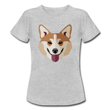 "Laden Sie das Bild in den Galerie-Viewer, T-Shirt ""Shiba Inu"" - Grau meliert"