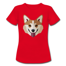 "Laden Sie das Bild in den Galerie-Viewer, T-Shirt ""Shiba Inu"" - Rot"