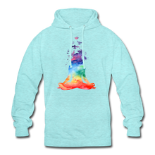 "Laden Sie das Bild in den Galerie-Viewer, Unisex Hoodie ""Yoga"" - Surferblau"