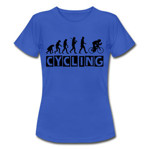 "T-Shirt ""Cycling"" - Royalblau"