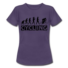 "Laden Sie das Bild in den Galerie-Viewer, T-Shirt ""Cycling"" - Dunkellila"
