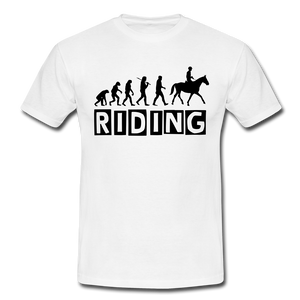 "T-Shirt ""Riding"" - Weiß"
