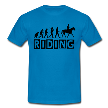 "Laden Sie das Bild in den Galerie-Viewer, T-Shirt ""Riding"" - Royalblau"