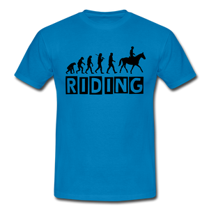 "T-Shirt ""Riding"" - Royalblau"