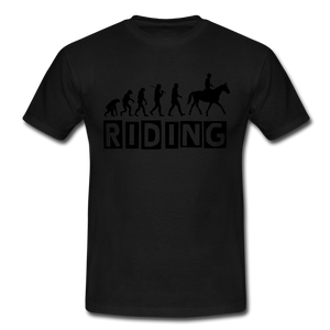 "T-Shirt ""Riding"" - Schwarz"