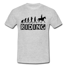 "Laden Sie das Bild in den Galerie-Viewer, T-Shirt ""Riding"" - Grau meliert"