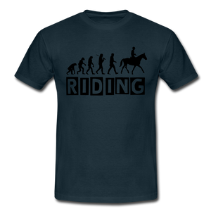 "T-Shirt ""Riding"" - Navy"