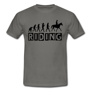 "T-Shirt ""Riding"" - Graphite"