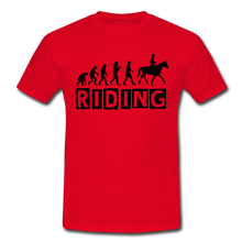 "Laden Sie das Bild in den Galerie-Viewer, T-Shirt ""Riding"" - Rot"