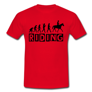 "T-Shirt ""Riding"" - Rot"
