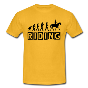 "T-Shirt ""Riding"" - Gelb"