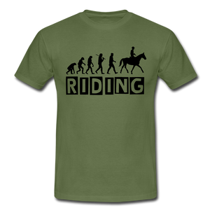 "T-Shirt ""Riding"" - Militärgrün"