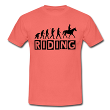 "Laden Sie das Bild in den Galerie-Viewer, T-Shirt ""Riding"" - Koralle"