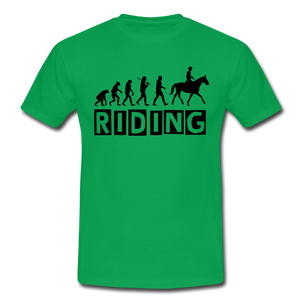 "T-Shirt ""Riding"" - Kelly Green"