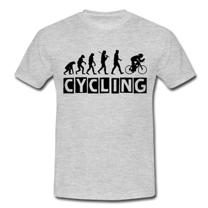 "T-Shirt ""Cycling"" - Grau meliert"