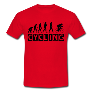 "T-Shirt ""Cycling"" - Rot"