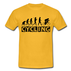"T-Shirt ""Cycling"" - Gelb"