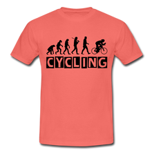 "Laden Sie das Bild in den Galerie-Viewer, T-Shirt ""Cycling"" - Koralle"