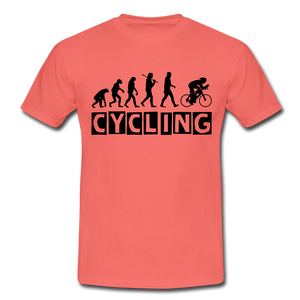 "T-Shirt ""Cycling"" - Koralle"