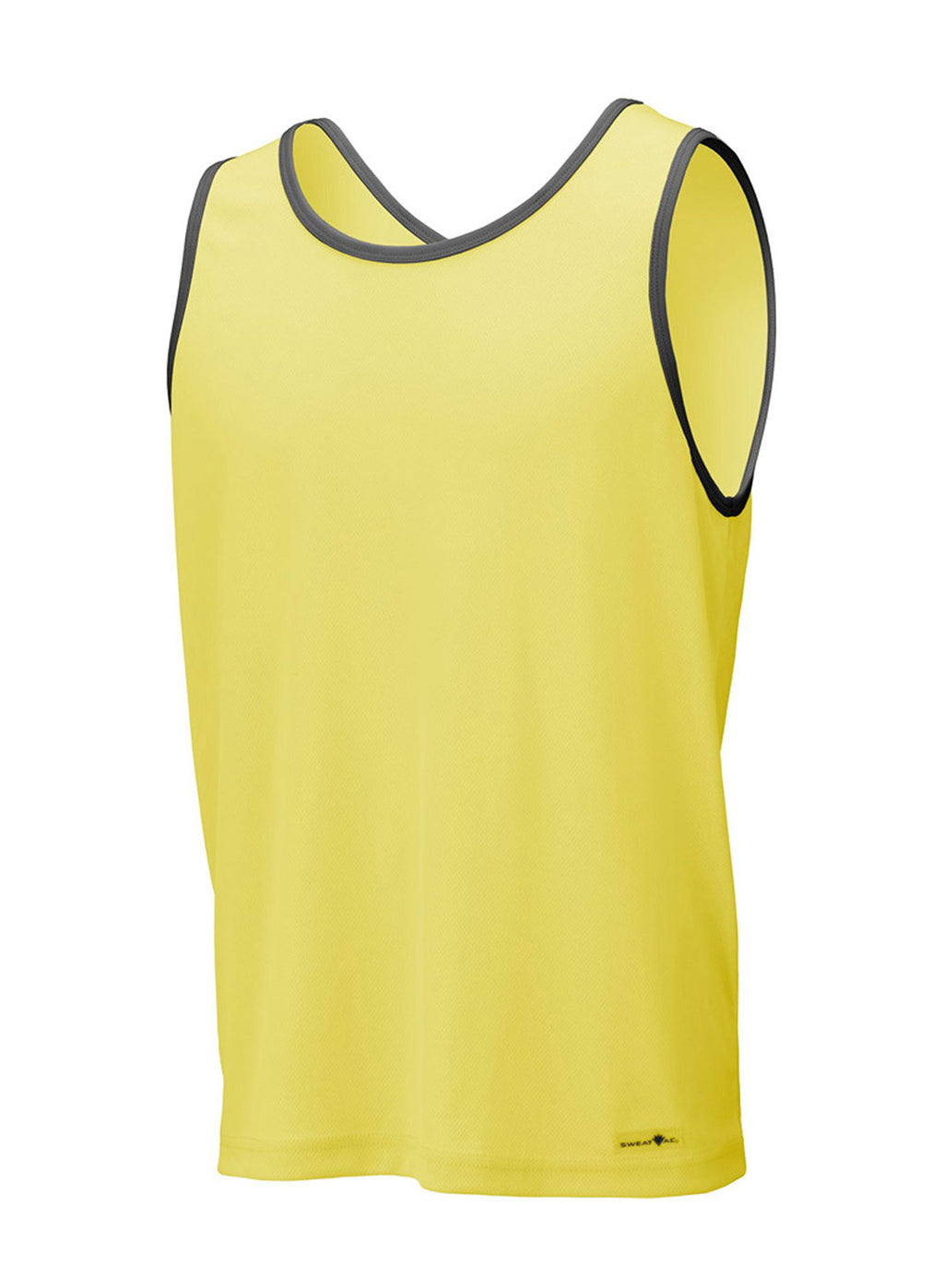 Yellow w Carbon 2Tone Race Tank