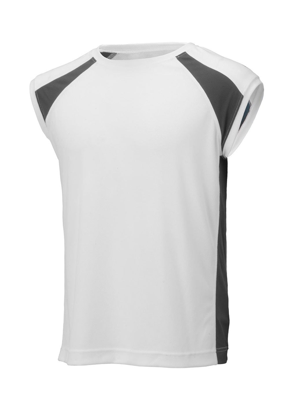 White/Carbon Unisex 2Tone Sleeveless Tee