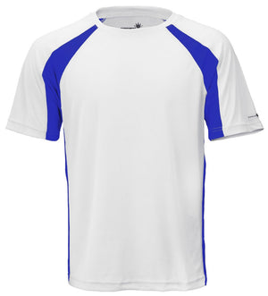 White/Reflex Blue Unisex Short Sleeve 2Tone Race Tee