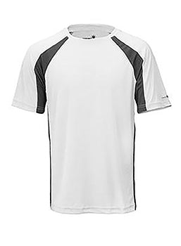White/Carbon Unisex Short Sleeve 2Tone Race Tee