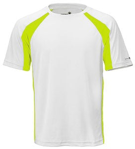 White/Lime Unisex Short Sleeve 2Tone Race Tee