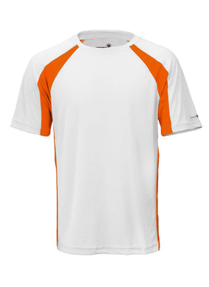 White/Orange Unisex Short Sleeve 2Tone Race Tee