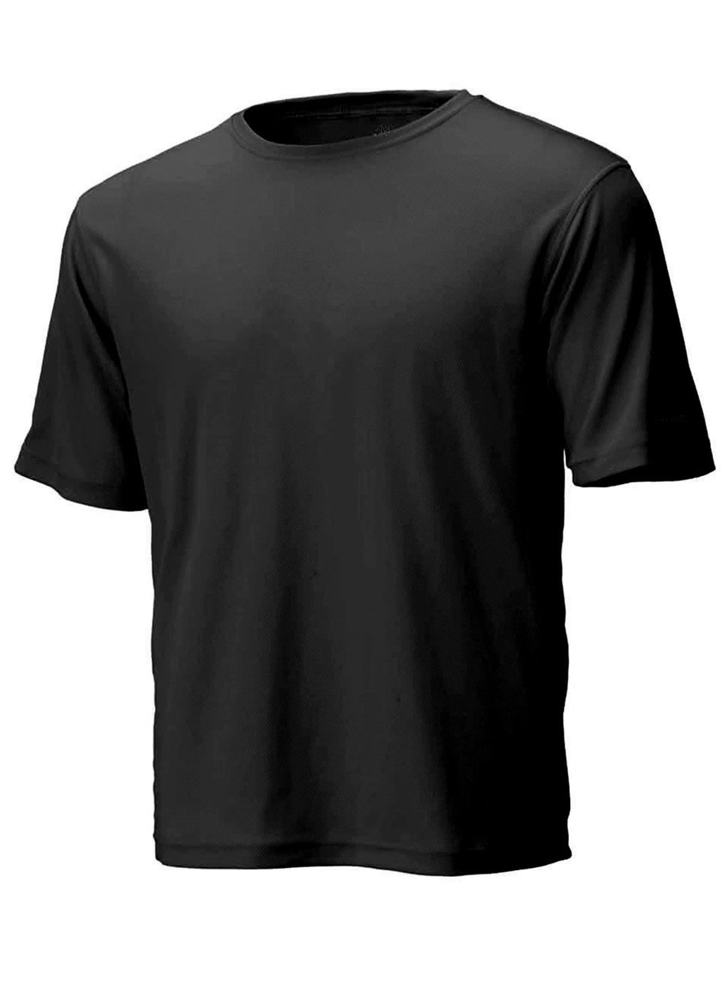 Black Unisex Short Sleeve Race Tee