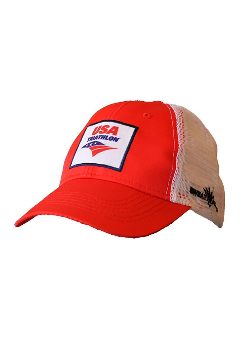 Red USA Triathlon Performance Trucker Hat