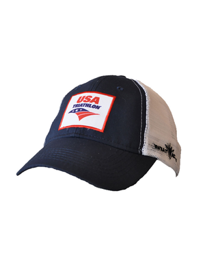 Blue USA Triathlon Performance Trucker Hat