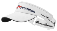 White USA Triathlon Visor