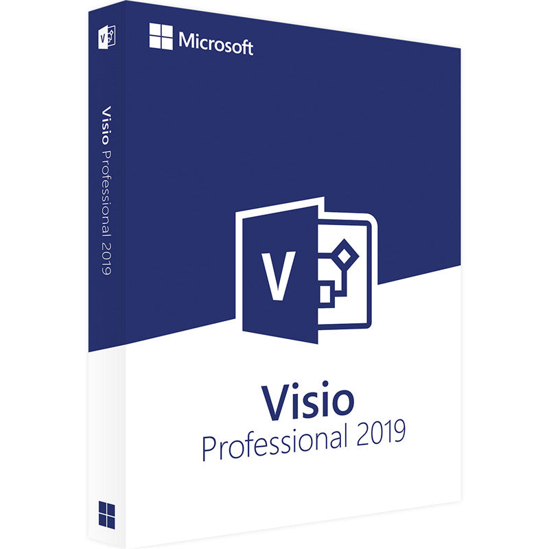 Microsoft Office Visio Professional 2019 For Windows Digital Delivery License 1 User - A.works